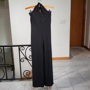 WHBM Black Halter Jumpsuit